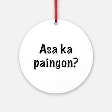 Asa Ka Paingon Ornament (Round)