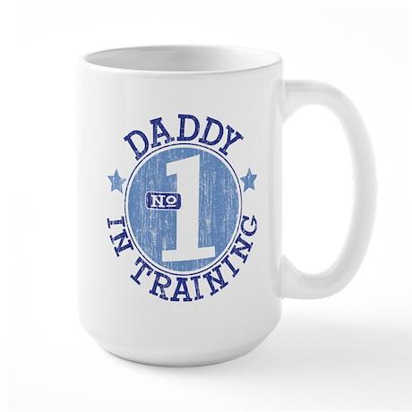 #1 DADDY IN TRAINING Large Mug