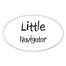 Little Navigator Oval Sticker