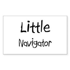 Little Navigator Rectangle Sticker