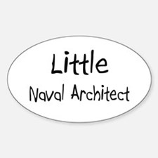 Little Naval Architect Oval Decal