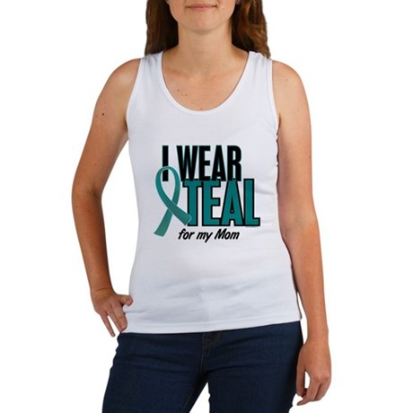 I Wear Teal For My Mom 10 Women's Tank Top