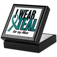 I Wear Teal For My Mom 10 Keepsake Box
