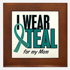I Wear Teal For My Mom 10 Framed Tile