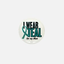 I Wear Teal For My Mom 10 Mini Button (10 pack)