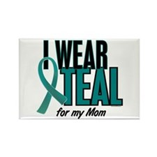 I Wear Teal For My Mom 10 Rectangle Magnet