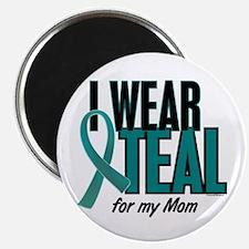 "I Wear Teal For My Mom 10 2.25"" Magnet (10 pack)"