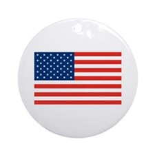 American Flag Ornament (Round)