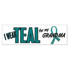 I Wear Teal For My Grandma 10 Bumper Car Sticker