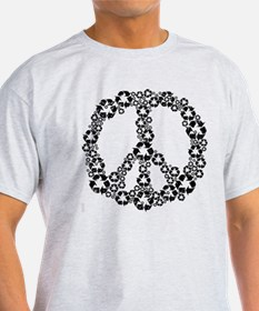 Black Recycle Peace T-Shirt