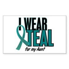 I Wear Teal For My Aunt 10 Rectangle Decal