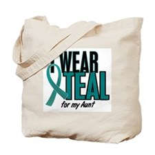 I Wear Teal For My Aunt 10 Tote Bag