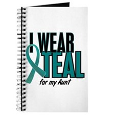 I Wear Teal For My Aunt 10 Journal
