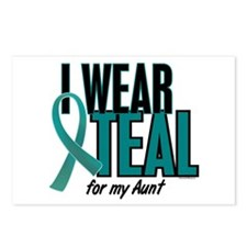 I Wear Teal For My Aunt 10 Postcards (Package of 8