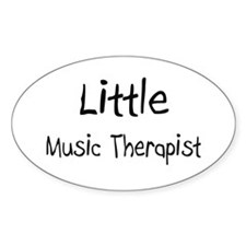 Little Music Therapist Oval Decal