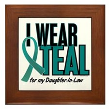 I Wear Teal For My Daughter-In-Law 10 Framed Tile