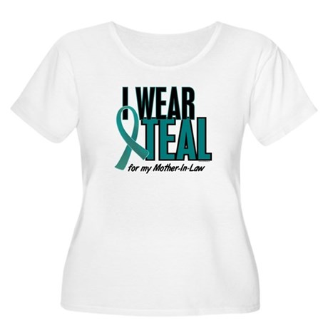 I Wear Teal For My Mother-In-Law 10 Women's Plus S