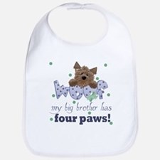 Big Brother has four paws Baby Infant Toddler Bib