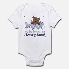 Big Brother has four paws Baby Infant Bodysuit