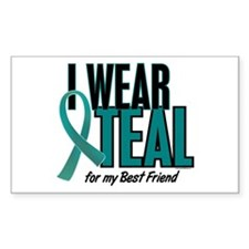 I Wear Teal For My Best Friend 10 Decal