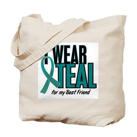 I Wear Teal For My Best Friend 10 Tote Bag