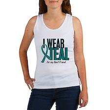 I Wear Teal For My Best Friend 10 Women's Tank Top