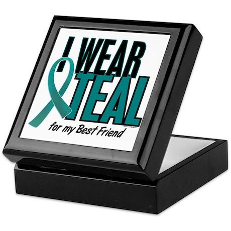 I Wear Teal For My Best Friend 10 Keepsake Box