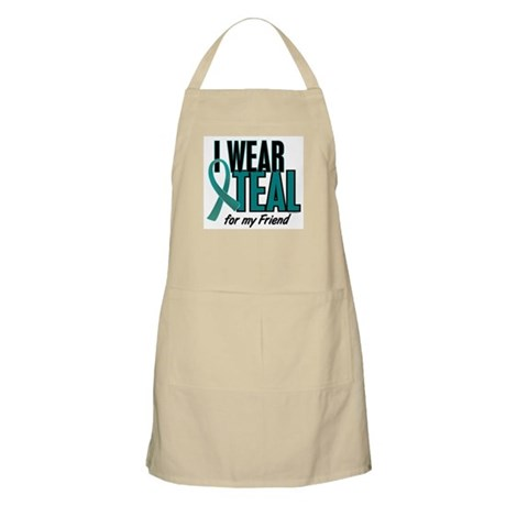 I Wear Teal For My Friend 10 BBQ Apron