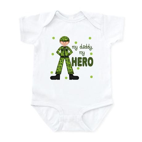 My Daddy My Hero Army Baby Infant Bodysuit