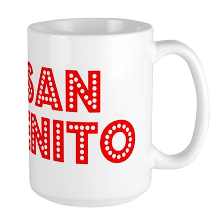 Retro San Benito (Red) Large Mug
