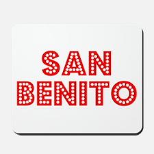 Retro San Benito (Red) Mousepad