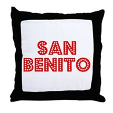 Retro San Benito (Red) Throw Pillow
