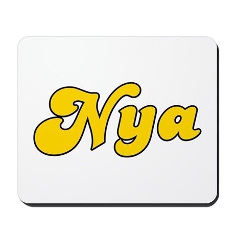 Retro Nya (Gold) Mousepad