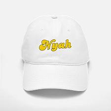 Retro Nyah (Gold) Baseball Baseball Cap