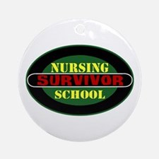 Nursing School Survivor Ornament (Round)