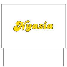 Retro Nyasia (Gold) Yard Sign