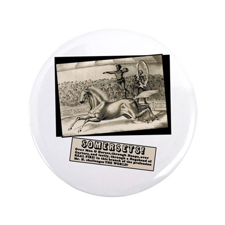 """Circus Poster Ring of Fire 3.5"""" Button (100 pack)"""