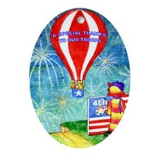 Thanks to Our Troops Oval Ornament