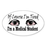 Medical Student Oval Sticker