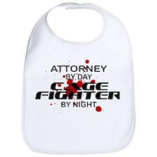 Attorney Cage Fighter by Night Bib