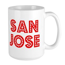 Retro San Jose (Red) Mug