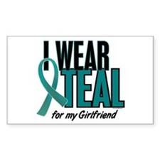 I Wear Teal For My Girlfriend 10 Decal
