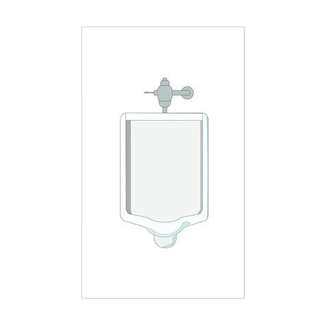 Urinal Rectangle Sticker
