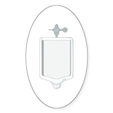 Urinal Oval Decal