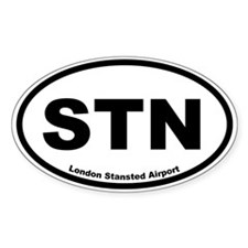 London Stansted Airport Oval Decal
