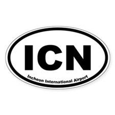 Incheon International Airport Oval Decal