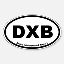 Dubai International Airport Oval Decal
