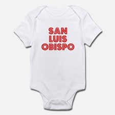 Retro San Luis Obi.. (Red) Infant Bodysuit