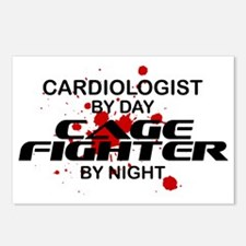 Cardiologist Cage Fighter by Night Postcards (Pack