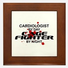 Cardiologist Cage Fighter by Night Framed Tile